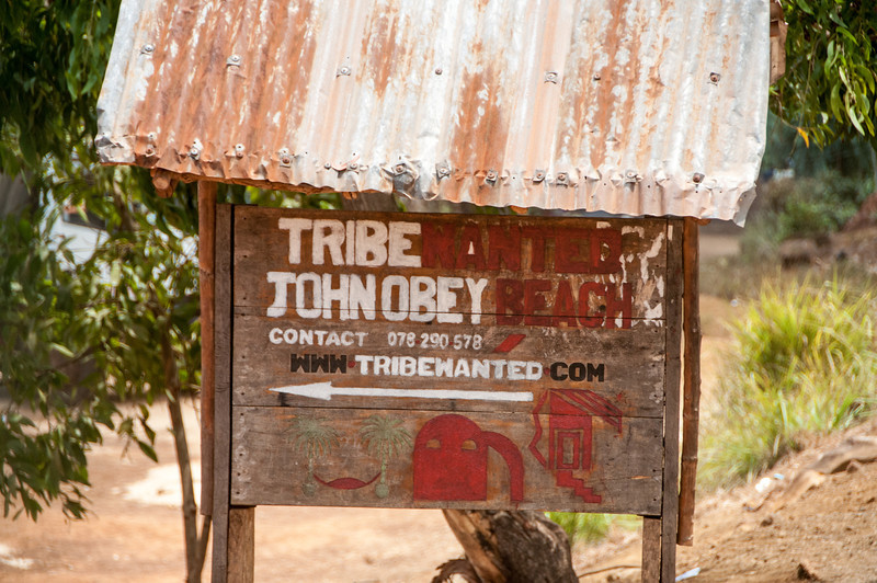 Business sign in Freetown, Sierra Leone