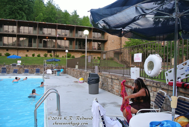 Val at the Pool