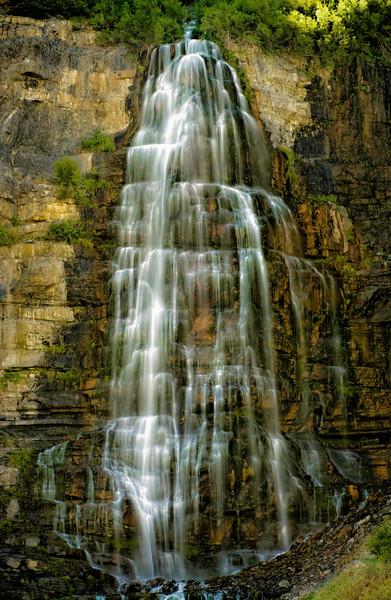 Color, soft focus          Bridal Veil falls