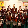"""St Pauls High School Bessbrook """"Spring Concert"""", Some members of the Orchestra pose for a photograph before the Concert, 07W14N71"""