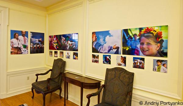 "Reception of exhibtion "" Colors of Ukraine"" at Ukrainian Embassy in Washington"