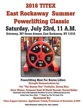 2016 Titex East Rockaway Summer Powerlifing Classic