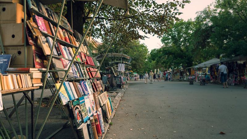 Street book stall in Banja Luka