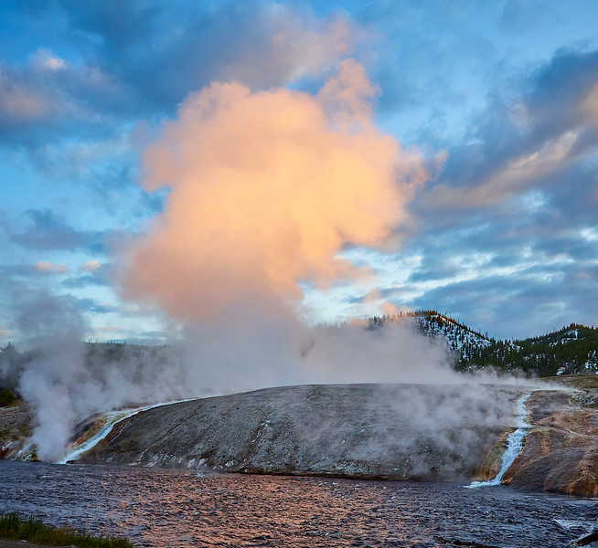Steaming waterfalls
