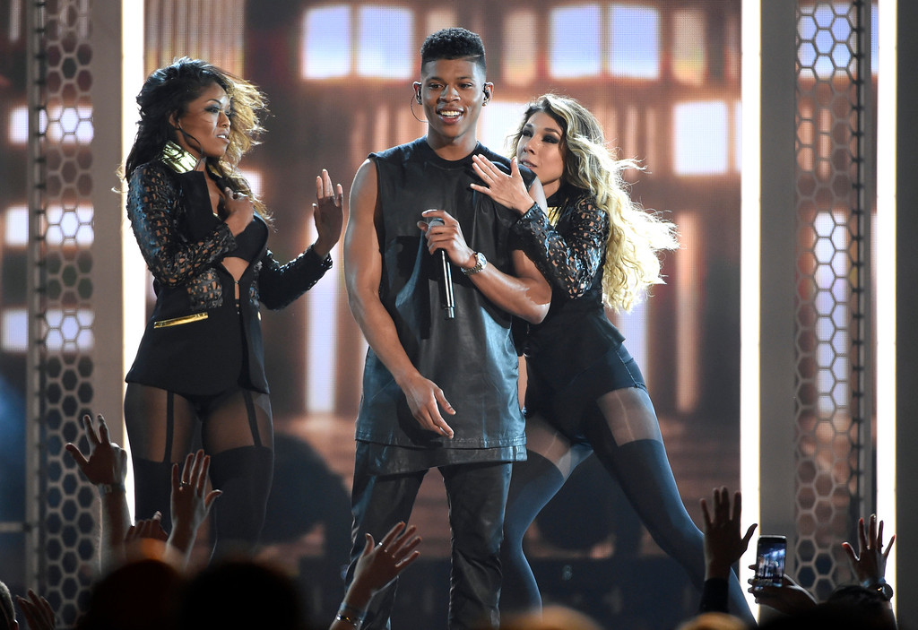 . Bryshere Y. Gray performs at the Billboard Music Awards at the MGM Grand Garden Arena on Sunday, May 17, 2015, in Las Vegas. (Photo by Chris Pizzello/Invision/AP)