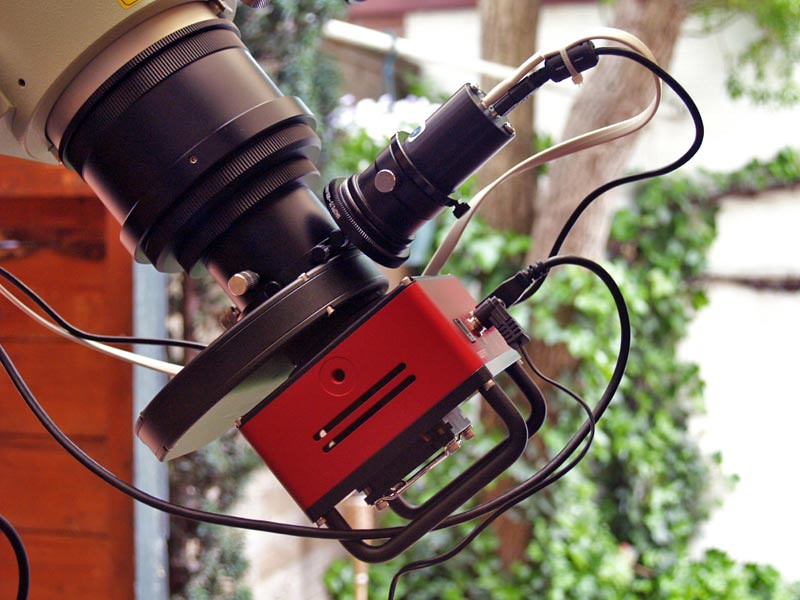 SBIG ST-8300 CCD camera, SXV USB filter wheel, Lodestar autoguider, TS 9 OAG