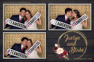 Jaclyn and Blake's Wedding November 16, 2019