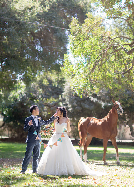 Tiffany & Charlie | calamigos Equestrian Wedding