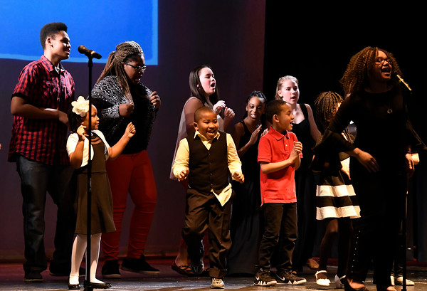 3/24/2018 Mike Orazzi | Staff One of the skits during The Queen Ann Nzinga Center's 9th annual Connie Wilson Collins Exceptional Women Concert, honoring outstanding women from the Greater Bristol, Plainville and New Britain community, held at Trinity on Main Saturday evening.