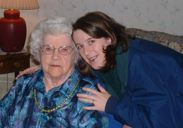 Ellen and her Grandma Chapin