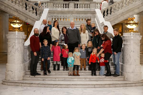 Carol Zabriskie Family Dec 2015- State Capitol