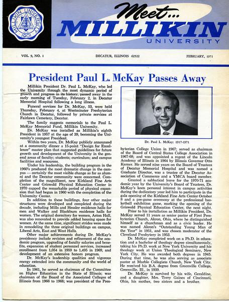 Meet Millikin University (February, 1971)