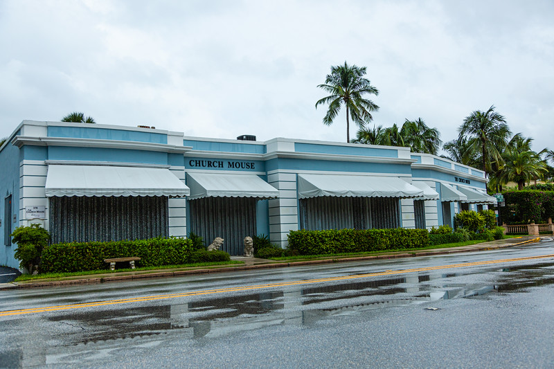 The Church Mouse in Palm Beach is shuttered ahead of Hurricane Dorian side-swiping Florida's east coast on Labor Day, Monday, September 2, 2019. [JOSEPH FORZANO/palmbeachpost.com]