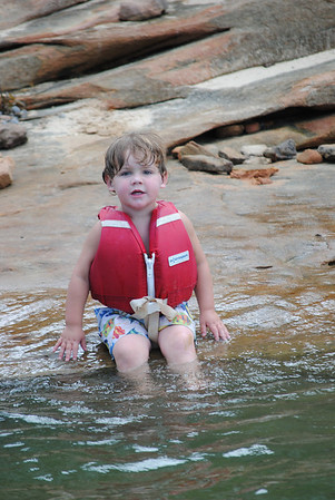 Owen Braving the Lake