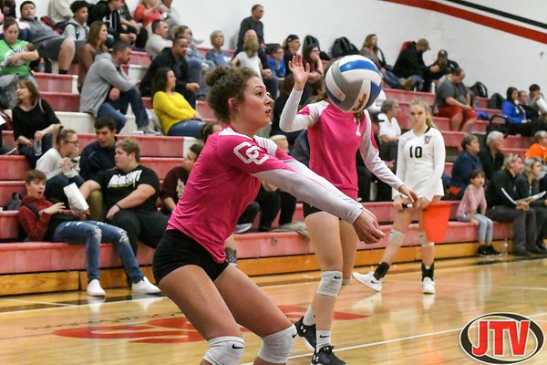 Volleyball Springport, Columbia Central at Vandercook Lake 10-24-19