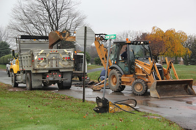 Water Main Break, Hometown (10-25-2012)