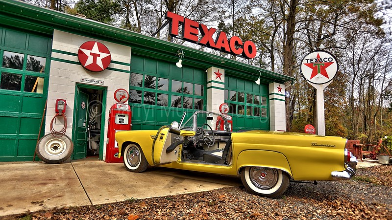 Vintage Texaco, 1956 T-bird and Truck (23).jpg