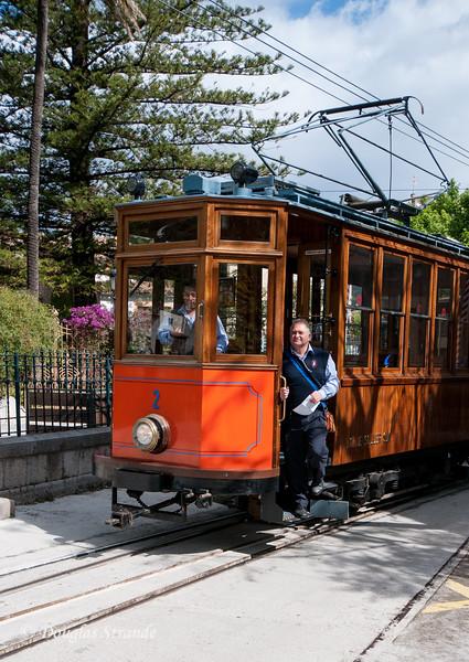 Wooden tram in Soller, Mallorca