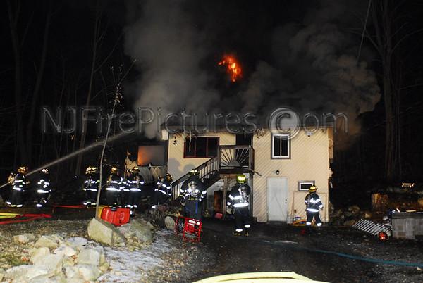 Jefferson Twp, NJ House Fire 43 Mason St. February 3, 2008