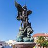 Springbrunnen mit dem Erzengel Michael an der Plaza in Tazacorte