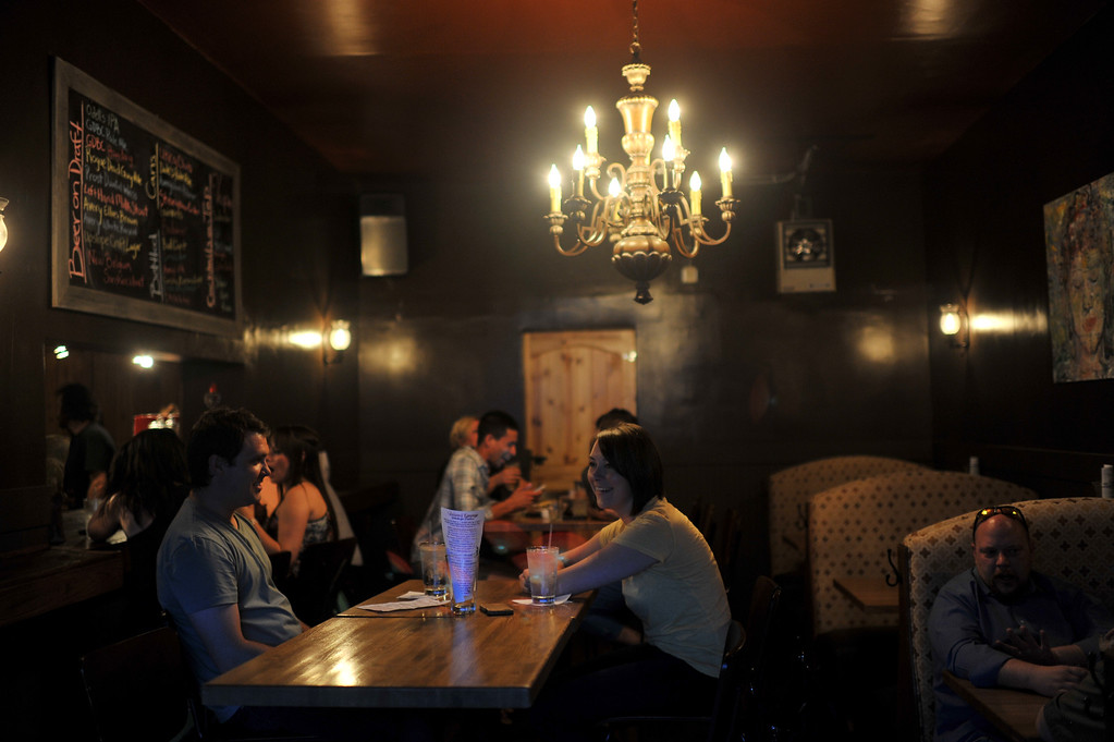 . People are having drinks and dinner at Vesper Lounge. Denver, Colorado. May 24, 2013. (Photo By Hyoung Chang/The Denver Post)