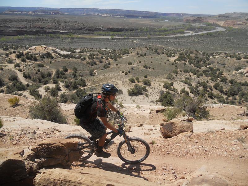 . Jason Bertolacci, with the Boulder-based Intermountain Mountain Biking Association, cruises along the West Rim trail. Handout Photo