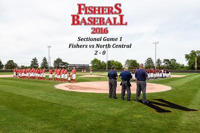 2016 Var Baseball - North Central, sectional gm1