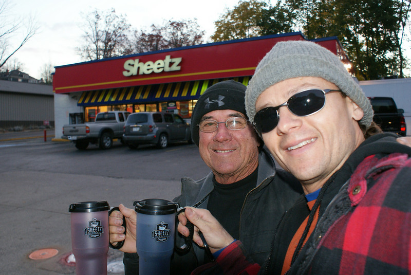 Every day we stopped at Sheetz for coffee and to lunch to go.
