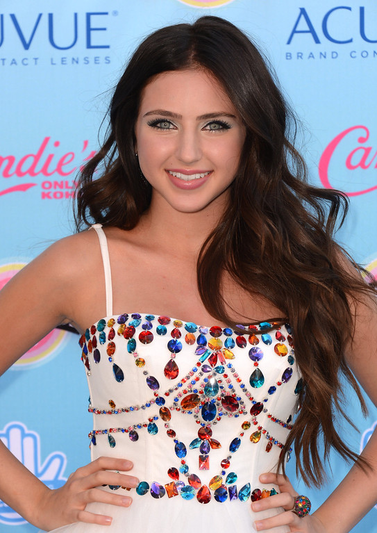 . Ryan Newman arrives at the Teen Choice Awards at the Gibson Amphitheater on Sunday, Aug. 11, 2013, in Los Angeles.(Photo by Jordan Strauss/Invision/AP)