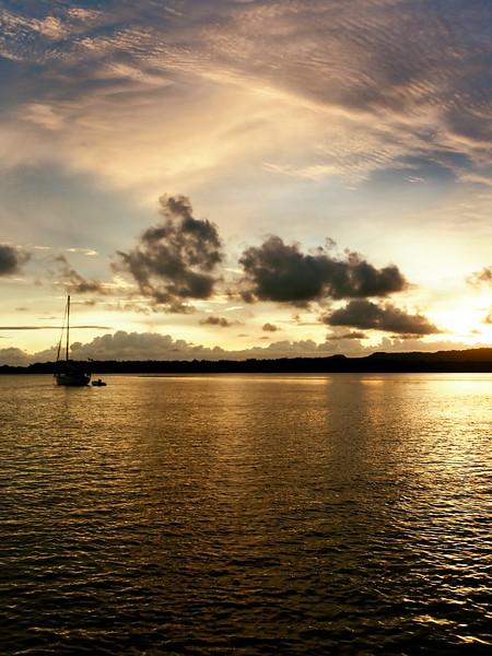 Nautical cloudy Sunrise Seascape Australia
