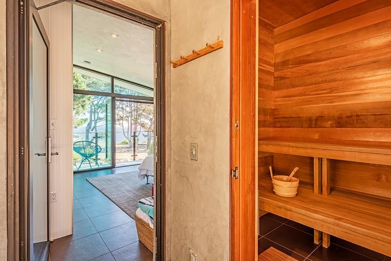 Private Sauna off Master Bedroom