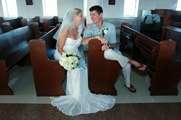 Todd & Jenny | Destination Wedding | St. Andrew's Anglican Church | Exuma, Bahamas
