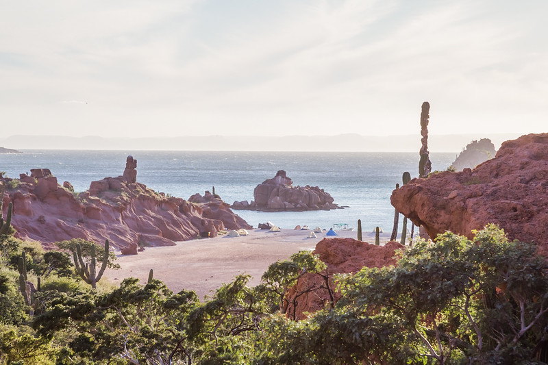 Remote beach in Baja Mexico