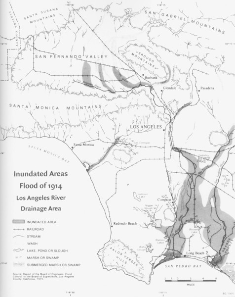 1914, LA River Flood Map