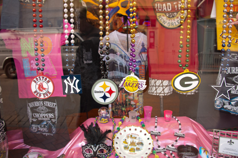 Couldn't help it, shop window on Bourbon Street
