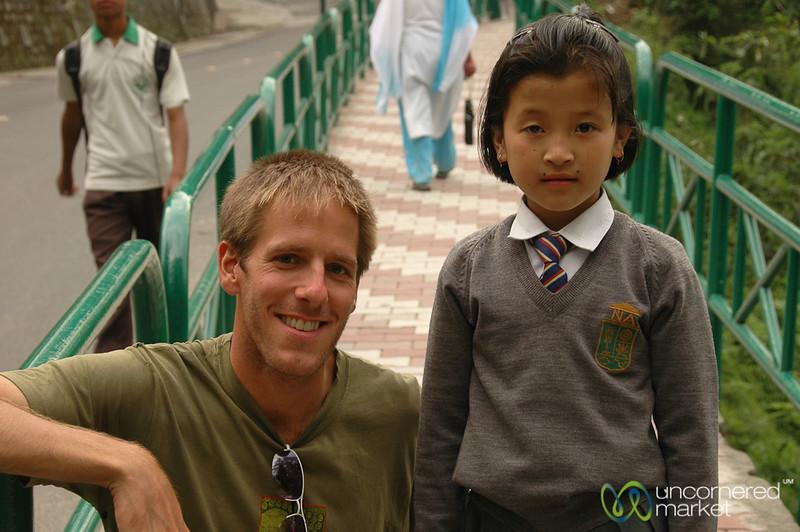 Dan Makes a New Friend - Gangtok, Sikkim