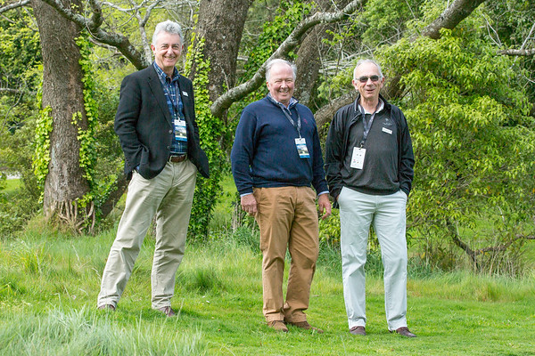 Three fine gentlemen (Andrew Harcourt, Andrew Meehan and Graham Kershaw) spectating on Practice Day 1 of the Asia-Pacific Amateur Championship tournament 2017 held at Royal Wellington Golf Club, in Heretaunga, Upper Hutt, New Zealand from 26 - 29 October 2017. Copyright John Mathews 2017.   www.megasportmedia.co.nz