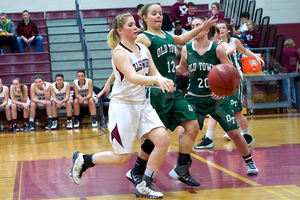 Girls' basketball: Ellsworth vs. Old Town 1/14/2015