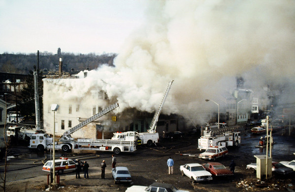 Paterson NJ 3rd alarm, Main St at Court St. 12-22-85