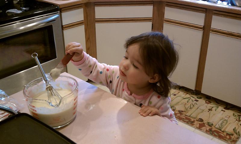 Making pancakes with Dad