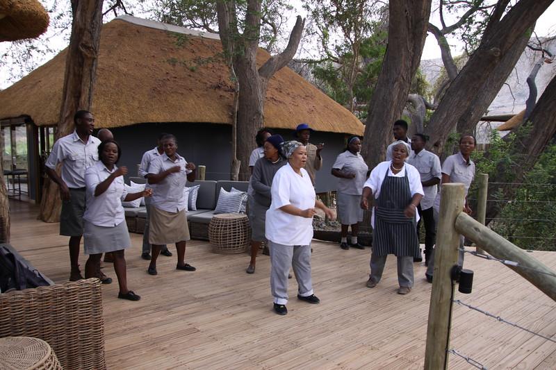 Goodbye dance to us from Serra Cafema staff!