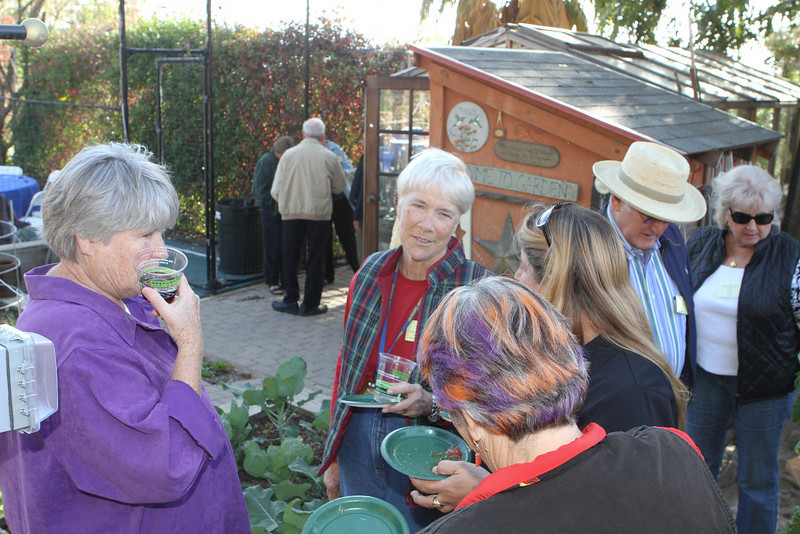 The garden area was very popular.