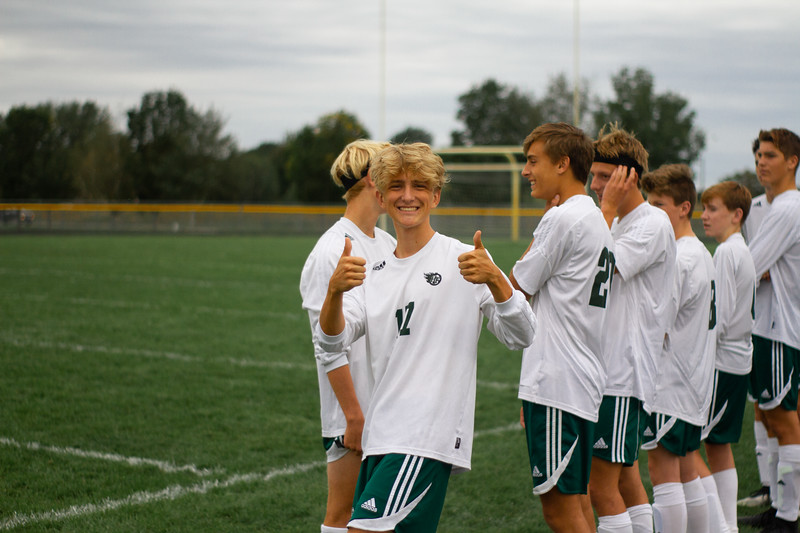 Holy Family Boys Varsity Soccer vs. Hutchinson, 9/26/19: Aiden Olsen '20 (17)
