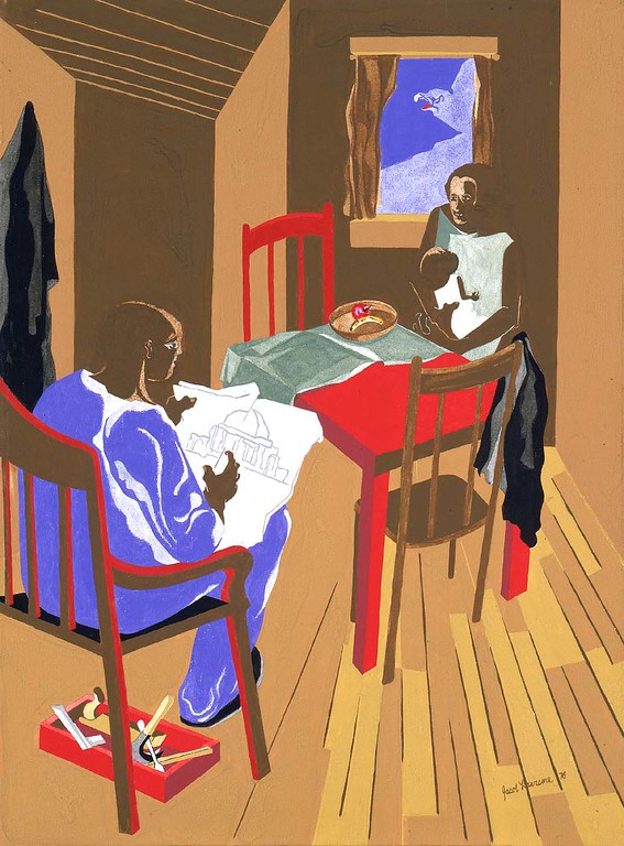 "Jacob Lawrence, ""In a free government...,"" 1976"