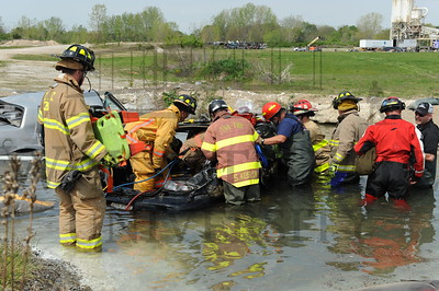 15681 Firefighter training at Calamityville 5-4-15