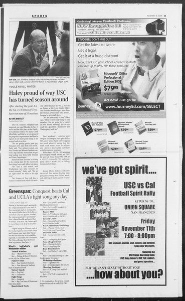 Daily Trojan, Vol. 156, No. 56, November 09, 2005