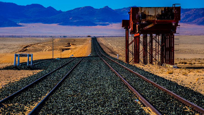 Abandoned rail track, because of the rapidly shifting sand dunes.