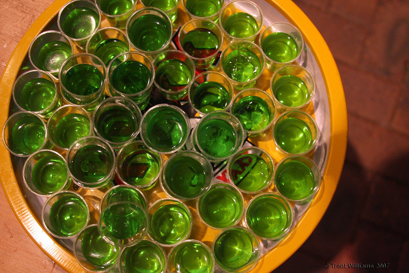 Jelly shots. Luke's thirtieth. Photo by Trent Williams