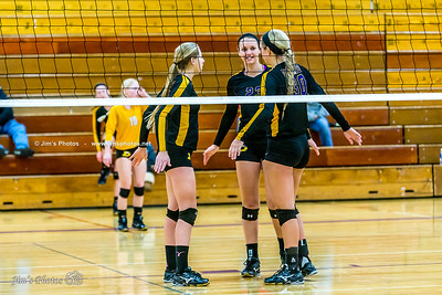 HS Sports - DeForest Volleyball - Oct 10, 2015a