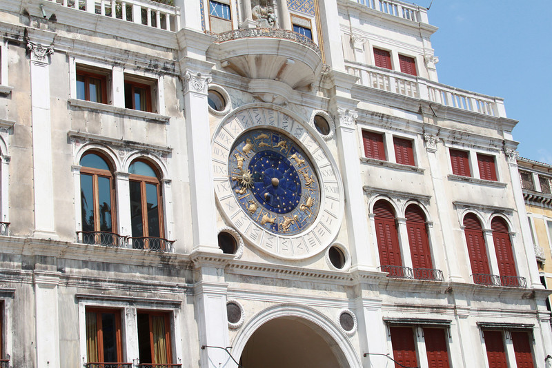 The clock tower in St. Mark's Square.